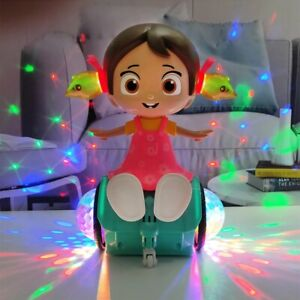 Toys for Kids Gift Electric Rotation Walking Singing Doll Dance Girl Lighting
