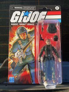 "GI Joe Vintage Retro Robert ""Grunt"" Graves Walmart Exclusive Hasbro 3.75"" READ"