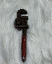 """VTG No. 8 West Germany Pipe Wrench Red Handle Collectible Tools 7"""""""