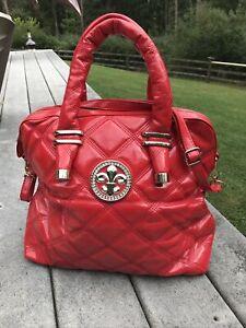 Patent Leather Red Handbag Shoulder Bag Purse Glam Bag