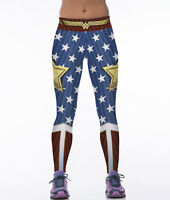 Women Sexy Leggings Slim Elastic Super Hero 3D Printed Pant Gym Fitness Jeggings