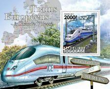 High Speed Trains of Europe (SNCF TGV Duplex / ICE) Stamp Sheet (2011 Togo)