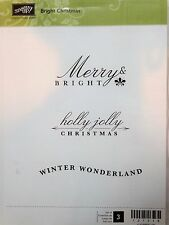 Stampin Up BRIGHT CHRISTMAS clear mount stamps Merry Holly Jolly Wonderland