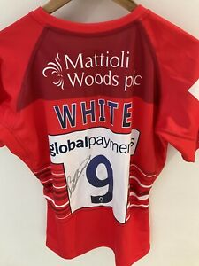 Leicester Tigers Ben White Signed European Challenge Cup Match Shirt
