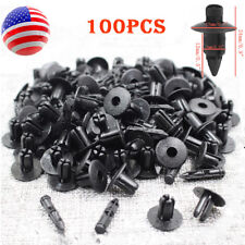 100x 7mm Plastic Rivet Black Push Interior Trim Panel Car Door Clips