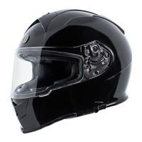 TORC T14 Mako Full Face Motorcycle Race Helmet Gloss Black Size Small DOT ECE