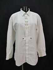 Gr.L Trachtenhemd Trachten Style weiß mit Edelweißstickerei Hemd TH1996