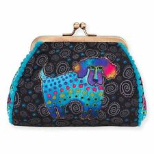 Laurel Burch Coin Purse Poodle and Pup Small Pouch Dog Black