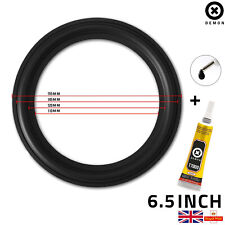 """6.5"""" inch Rubber Woofer Speaker Part Light Surrounds Repairs Spare 155MM + Glue"""