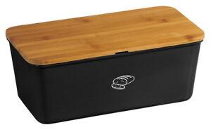 KESPER Brotkasten+FSC Bambus-Schneidebrett Brotkiste+Holz-Brett Brot-Box Brotbox