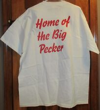 Men's T-Shirt Hains Beefy T Graphics Read Home of the Big Pecker NWOT Size XL