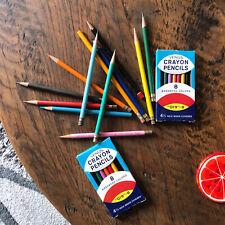 Vintage Venus Crayon Pencils & Artcraft Empire 179 Pencils LOT 28 pcs 1970s