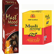 Boost Sexual Stamina And Power Herbal Supplements 120 Musli Strong + 6 Mast Mood