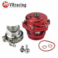 New 50mm Q Blow Off Valve BOV with v-band Aluminum Flange Version RED