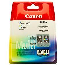 Canon PG 40 Black + CL 41 Colour Genuine Original Ink Cartridge For IP2600 MP180