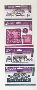 Set Of 4 Christmas Die'sire Crafter's Companion Metal Dies Holiday Craft *NEW