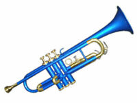 New BLUE BRASS Finish Bb Trumpet With Free Hard Case+Mouthpiece