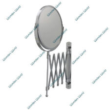 EXTENDING WALL MOUNTED MIRROR MAGNIFYING BATHROOM COSMETIC SHAVING MIRROR MAKEUP