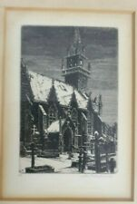 Black and White, Trébrivan, John Taylor ARMS 1953 original etching