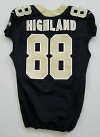 #88 Chris Highland of New Orleans Saints NFL Locker Room Team Issued Jersey