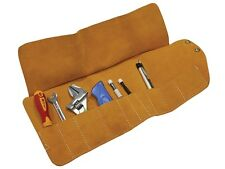 Faithfull FAILTR10 10 pocket leather tool roll TR10 toolroll