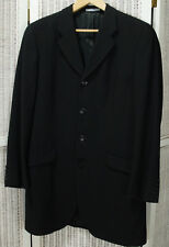 "KENZO HOMME Men's Long Line Jacket 43"" Chest Ribbed Wool Formal Blazer Coat"