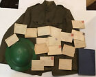 WW1 Tunic helmet Letters Book lot Named W Elder Bird Paine Iowa France US ARMY
