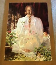 """AUTHENTIC ARTAGRAPH OIL """"FLOWERED ROBE """"BY M. DESATNICK, SIGNED 337/1000"""