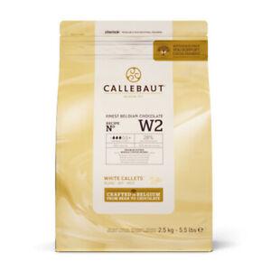 Callebaut Chocolat Blanc Le Meilleur Chocolat Belge Fondant Callets 2.5Kg