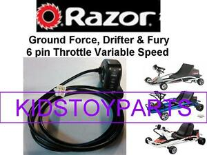 Razor Ground Force Drifter Scooter Thumb Throttle  6 Pins / 6 Wires W25143400043