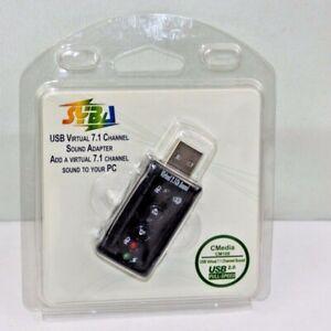 USB Audio Sound Adapter Virtual 7.1 Sound w/ Mic Input 3.5mm Jack SD-CM-UAD71
