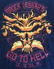 Brock Lesnar's Go To Hell Tour T Shirt Men's Medium New Black Wwe Wwf Ecw ufc