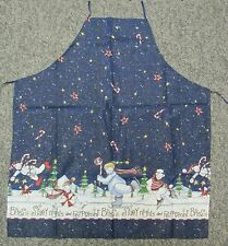 New kitchen apron Christmas Starry Nights & Peppermint Bites Polar bear skate