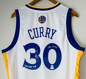 Stephen Curry Signed Warriors Adidas Autograph Inscribed NBA Auto Jersey JSA LOA