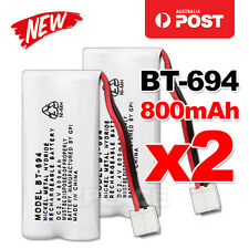 2x 800mAh 2.4V Ni-MH Cordless Phone For Uniden Battery BT-694 BT 694 BT-694S