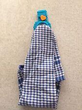 HAND CROCHET KITCHEN TOWEL HOLDER, with tea towel