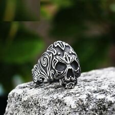 Metal Ethnic For Men Fashion Party Viking Ring Skeleton Jewelry Stainless Steel