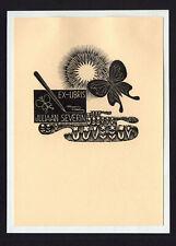 20)Nr.052- EXLIBRIS- Elsa Severin, Schmetterling / butterfly