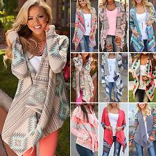 Damen Cardigan Strickjacke Mantel Weste Pullover Longshirt Bluse Jacke Poncho DE