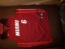 VINTAGE ADIDAS MIAMI 6 JAMES 6 XL LeBRON NBA JERSEY MIAMI
