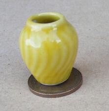 1:12 Escala Amarillo Con Estampado De Florero Casa De Muñecas En Miniatura Adorno Accesorio y36