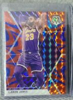 2019-20 Panini Mosaic LeBron James Blue Reactive Red Lakers #8 Prizm SP RARE!