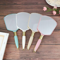 Plastic Vintage Hand Mirrors Makeup Vanity Mirror Rectangle Hold Cosmetic Mir 2-