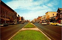 New York NY Canandaigua Main Street Postcard Old Vintage Card View Standard Post