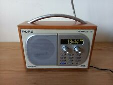 PURE Tempus-1S DAB /FM Radio, Woodgrain finish with original power supply.