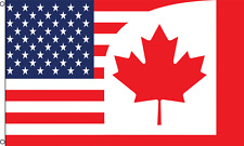 USA CANADA COMBO 3x5ft Flag Polyester united states us