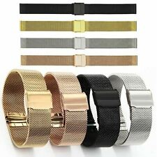 10-24mm 0.6 Wire Milanese Loop Band Watch Strap Mesh Bracelet Double-Lock Buckle
