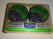 Vintage Shakespeare Wonderline 2-100 Yard Spools 10 Lb Test Fishing Line Nos