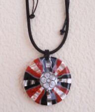 Halskette  Schaumkoralle Perlmutt  Resin längenverstellbar  5,5 cm  Naturschmuck