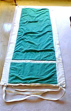 Beach Pool Outdoor Mat Heavy Cotton Canvas Backing W/ Pocket And Carrying Strap
